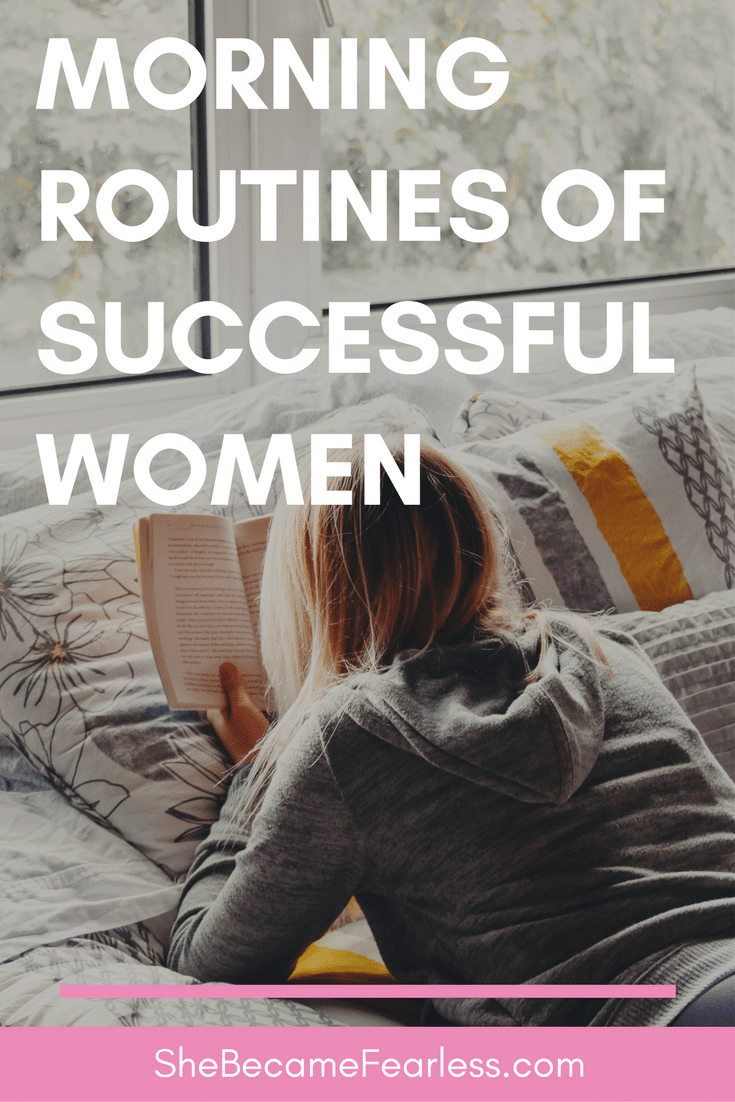 morning routines of successful women
