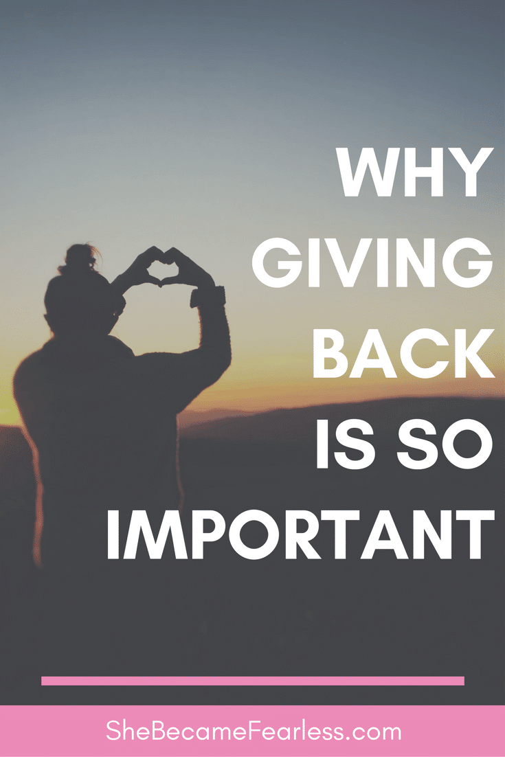 why giving back is so important